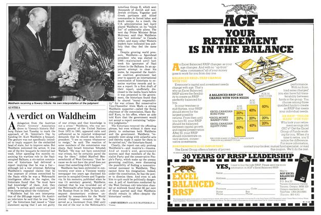 Article Preview: A verdict on Waldheim, February 1988 | Maclean's