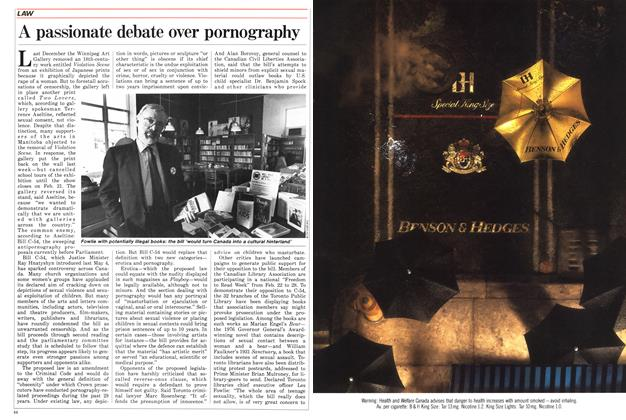 Article Preview: A passionate debate over pornography, February 1988   Maclean's
