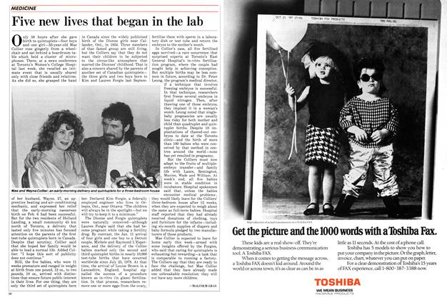 Article Preview: Five new lives that began in the lab, February 1988 | Maclean's