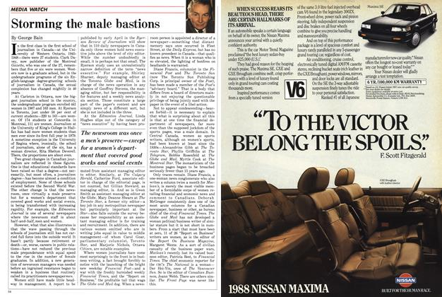 Article Preview: Storming the male bastions, February 1988 | Maclean's