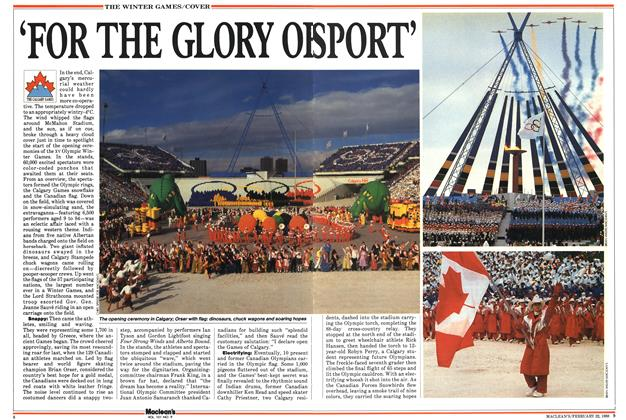 Article Preview: 'FOR THE GLORY OF SPORT', February 1988 | Maclean's