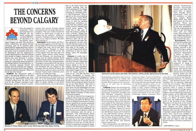 Article Preview: THE TONCERNS BEYOND CALGARY, February 1988 | Maclean's
