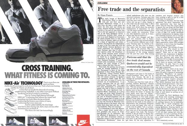 Article Preview: Free trade and the separatists, February 1988 | Maclean's