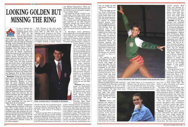 Article Preview: LOOKING GOLDEN BUT MISSING THE RING, February 1988 | Maclean's