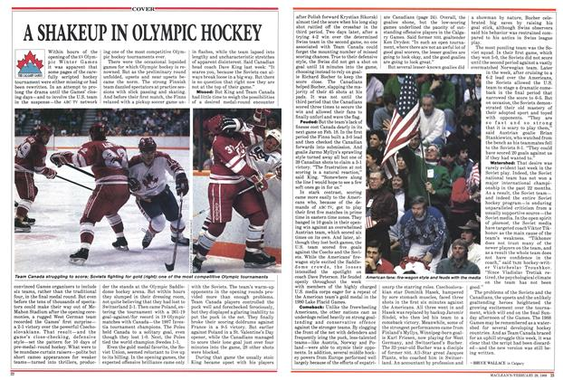 Article Preview: A SHAKEUP IN OLYMPIC HOCKEY, February 1988 | Maclean's