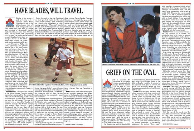 Article Preview: GRIEF ON THE OVAL, February 1988 | Maclean's