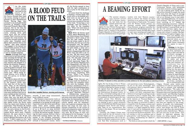 Article Preview: A BLOOD FEUD ON THE TRAILS, February 1988 | Maclean's