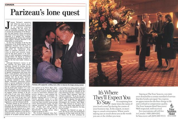Article Preview: Parizeau's lone quest, February 1988 | Maclean's