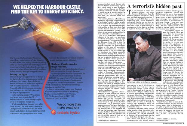 Article Preview: A terrorist's hidden past, February 1988 | Maclean's