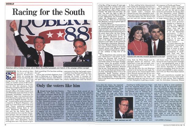 Article Preview: Racing for the South, February 1988 | Maclean's