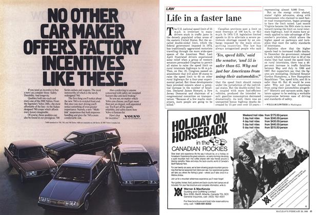 Article Preview: Life in a faster lane, February 1988 | Maclean's