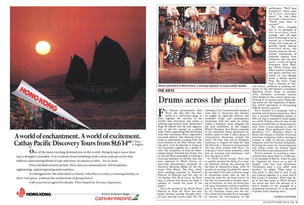 Article Preview: Drums across the planet, February 1988 | Maclean's