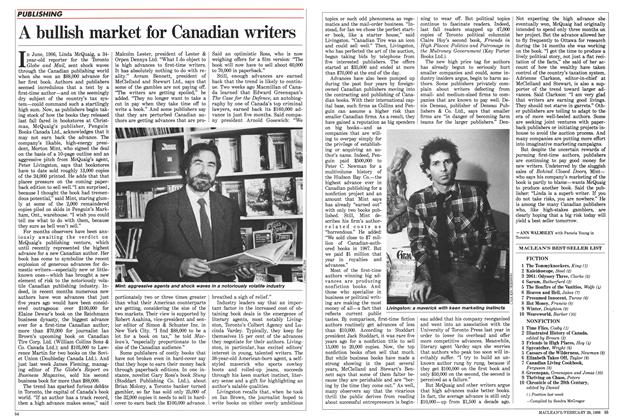 Article Preview: A bullish market for Canadian writers, February 1988 | Maclean's
