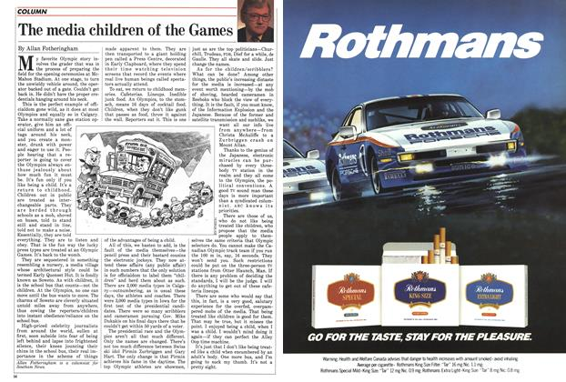 Article Preview: The media children of the Games, February 1988 | Maclean's