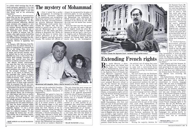 Article Preview: Extending French rights, March 1988 | Maclean's