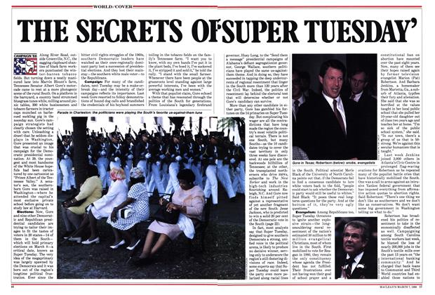Article Preview: THE SECRETS OF 'SUPER TUESDAY', March 1988 | Maclean's