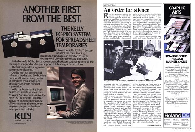 Article Preview: An order for silence, March 1988   Maclean's