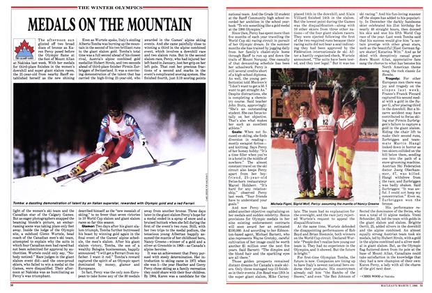 Article Preview: MEDALS ON THE MOUNTAIN, March 1988 | Maclean's