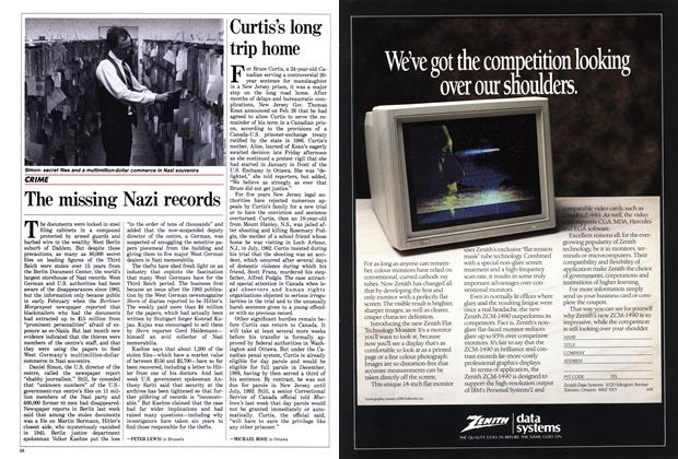 Article Preview: Curtis's long trip home, March 1988 | Maclean's