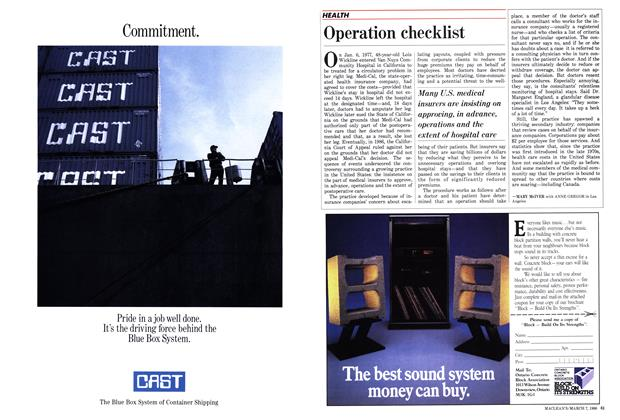 Article Preview: Operation checklist, March 1988 | Maclean's