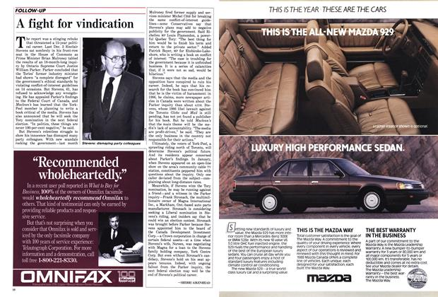 Article Preview: A fight for vindication, March 1988 | Maclean's