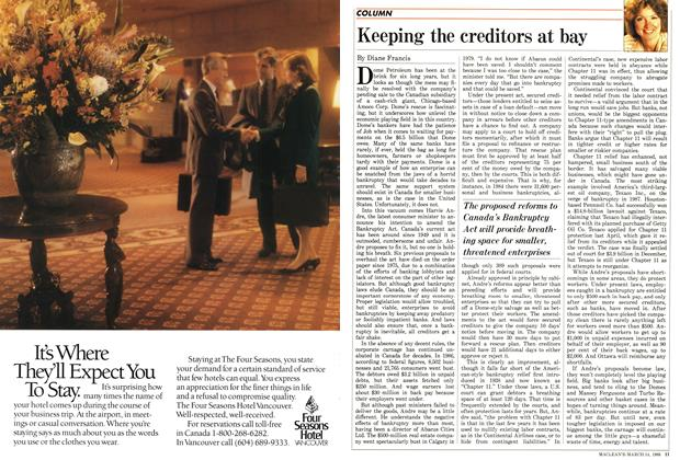 Article Preview: Keeping the creditors at bay, March 1988 | Maclean's
