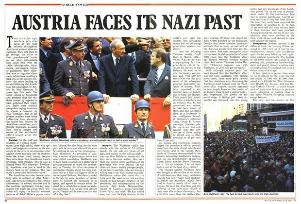 Article Preview: AUSTRIA FACES ITS NAZI PAST, March 1988 | Maclean's