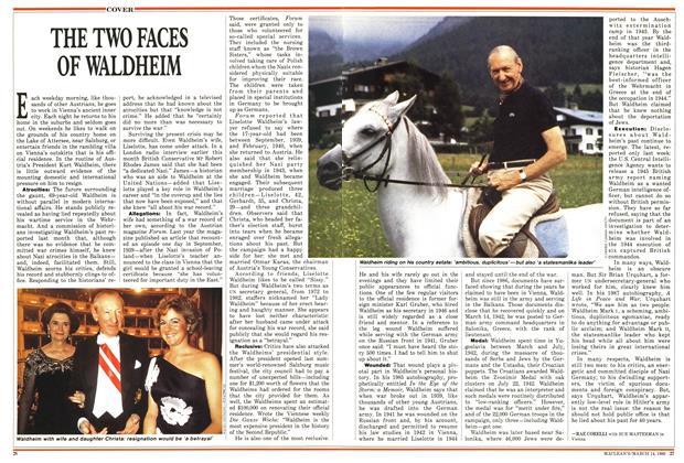 Article Preview: THE TWO FACES OF WALDHEIM, March 1988 | Maclean's