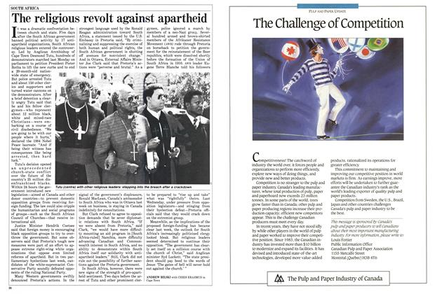 Article Preview: The religious revolt against apartheid, March 1988 | Maclean's