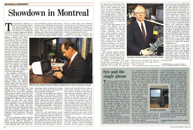 Article Preview: Showdown in Montreal, March 1988   Maclean's