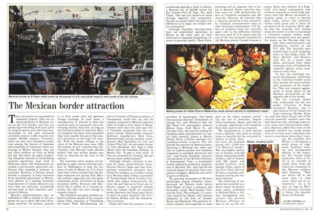 Article Preview: The Mexican border attraction, March 1988 | Maclean's