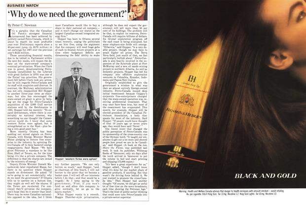 Article Preview: 'Why do we need the government?', March 1988 | Maclean's