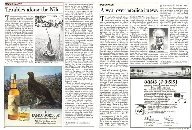 Article Preview: Troubles along the Nile, March 1988 | Maclean's