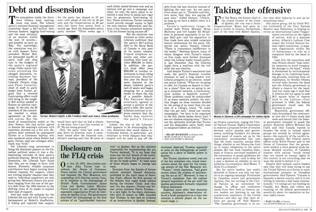 Article Preview: Debt and dissension, March 1988 | Maclean's