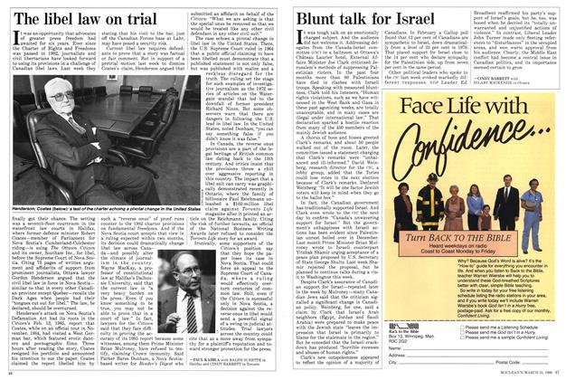 Article Preview: Blunt talk for Israel, March 1988 | Maclean's