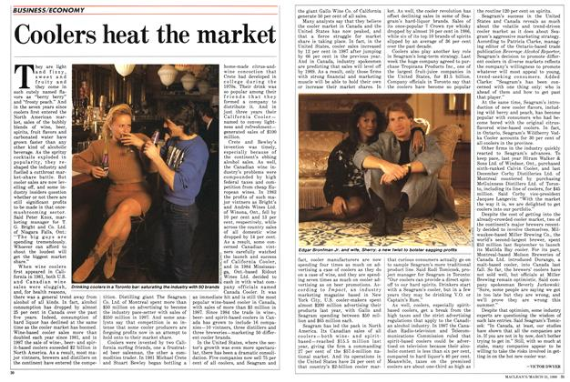 Article Preview: Coolers heat the market, March 1988 | Maclean's