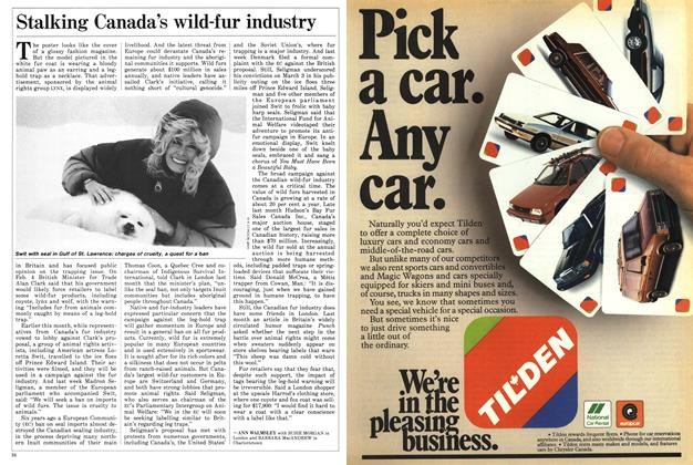 Article Preview: Stalking Canada's wild-fur industry, March 1988 | Maclean's