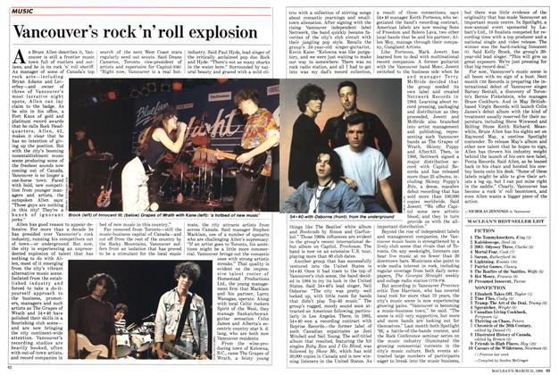 Article Preview: Vancouver's rock'n'roll explosion, March 1988 | Maclean's