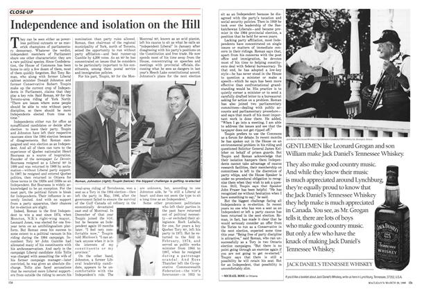 Article Preview: Independence and isolation on the Hill, March 1988 | Maclean's