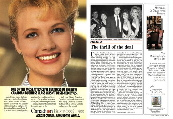 Article Preview: The thrill of the deal, March 1988 | Maclean's