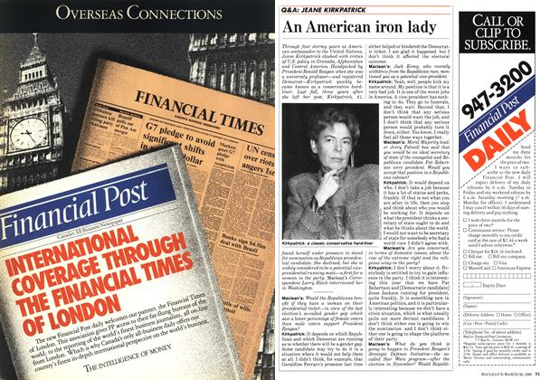 Article Preview: An American iron lady, March 1988 | Maclean's