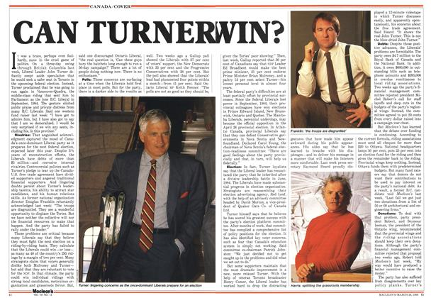 Article Preview: CAN TURNER WIN?, March 1988 | Maclean's
