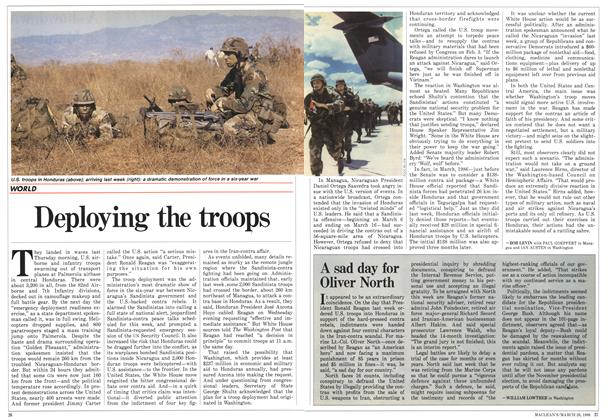Article Preview: Deploying the troops, March 1988 | Maclean's
