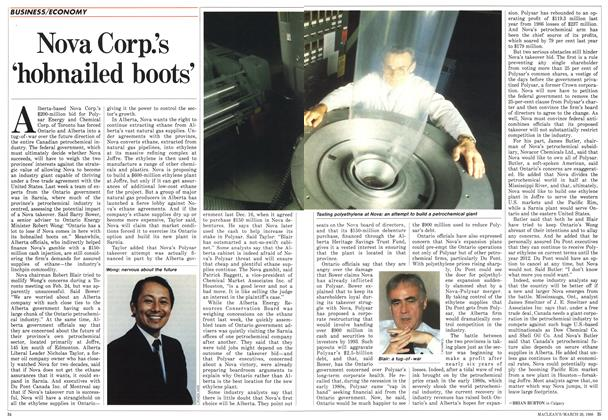 Article Preview: Nova Corp.'s 'hobnailed boots', March 1988 | Maclean's