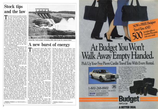 Article Preview: A new burst of energy, March 1988 | Maclean's