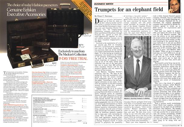 Article Preview: Trumpets for an elephant field, March 1988 | Maclean's
