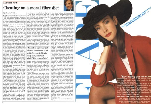 Article Preview: Cheating on a moral fibre diet, March 1988 | Maclean's