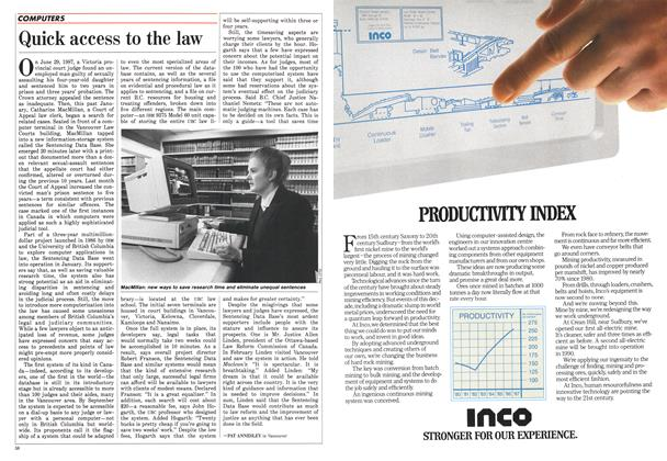 Article Preview: Quick access to the law, March 1988 | Maclean's
