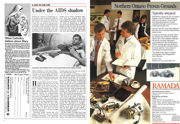 Article Preview: Under the AIDS shadow, March 1988 | Maclean's