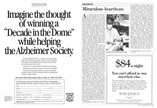Article Preview: Miraculous heartbeats, March 1988 | Maclean's